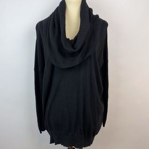 Victoria's Secret/MODA Tunic Cowl Sweater Black M